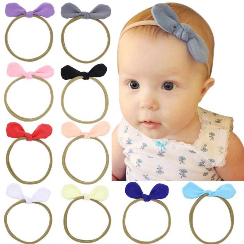 New 1Pcs Europe And The United States Baby Hair Band Baby Hair Accessories Cloth Headband Toddler Girl Kids Bowknot Hairband M