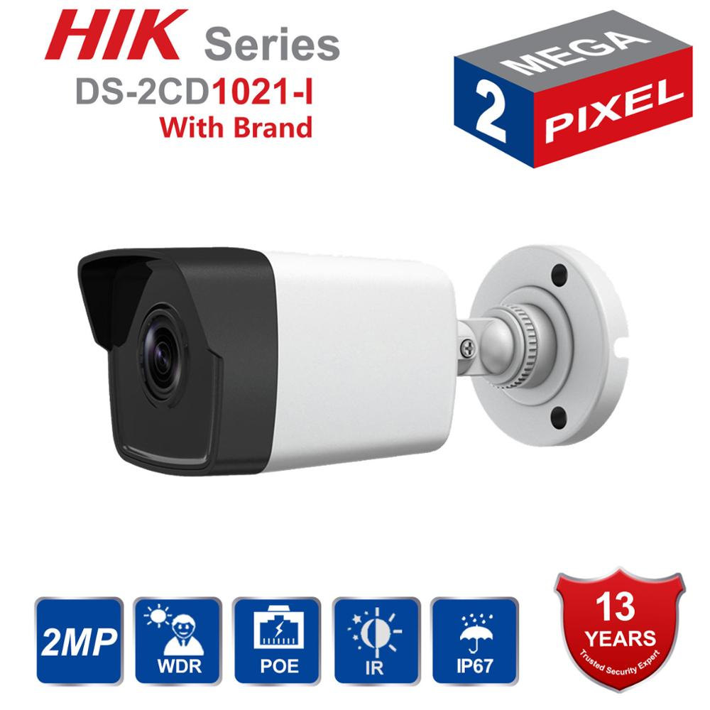 In Stock Hik Bullet IP Camera outdoor DS 2CD1021 I 2MP CMOS Security Camera with Day