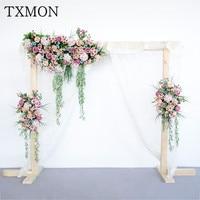 Искусственный шелк искусственный цветок Свадебная сцена макет сценический фон предварительно функция области украшения t station flowerarrangement