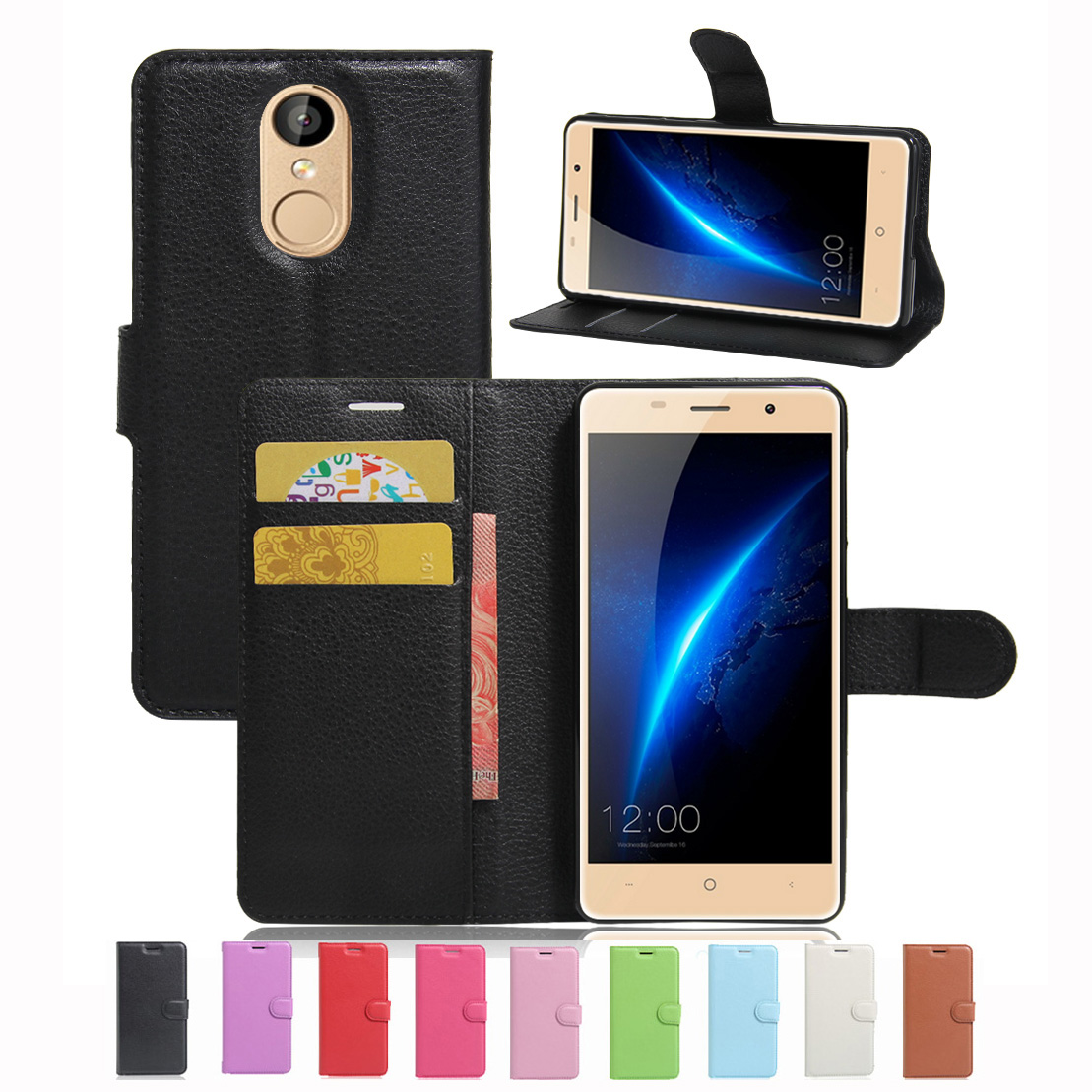 New Luxury Original PU Leather Case For lEAGOO M5 Flip Shell Back Cover With Card Holder Stander