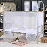 Adeeing الأبيض أربعة ركن بوست طالب سرير الستارة ناموسية شبكية سرير التوأم الملكة الملك