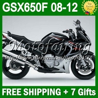 7 подарки для SUZUKI GSX650F 08 09 10 11 12 GSX 650F черный серебристый GSX650 F GSXF650 # 337 2008 2009 серебро blk 2010 Fairi