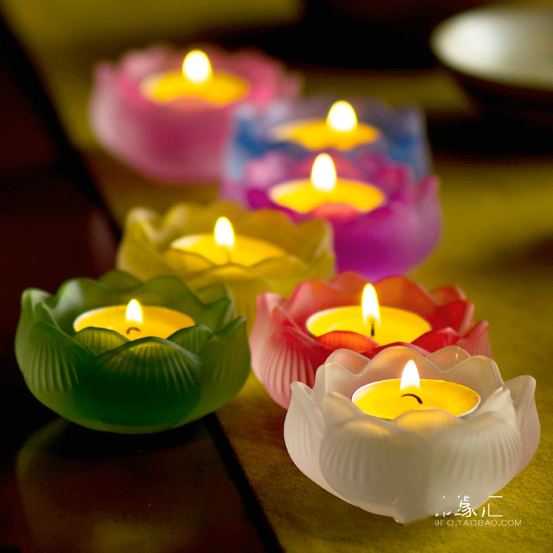 The 7 Is A Set Of Seven Colors Coloured Glazed Candlestick Tealight Candle Holders Wedding