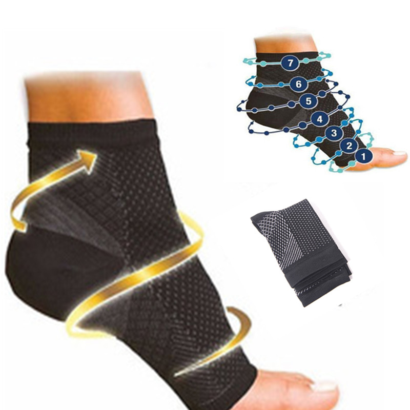 2pcs Foot Anti Fatigue Compression Sleeve Relieve Swelling Varicosity Foot Care Tool