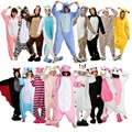 Winter Unisex Adult Pajamas Cosplay Costume Animal Onesie Sleepwear Stitch Zebra Panda Totoro Bear Bat Unicorn Tenma Pig Pikachu