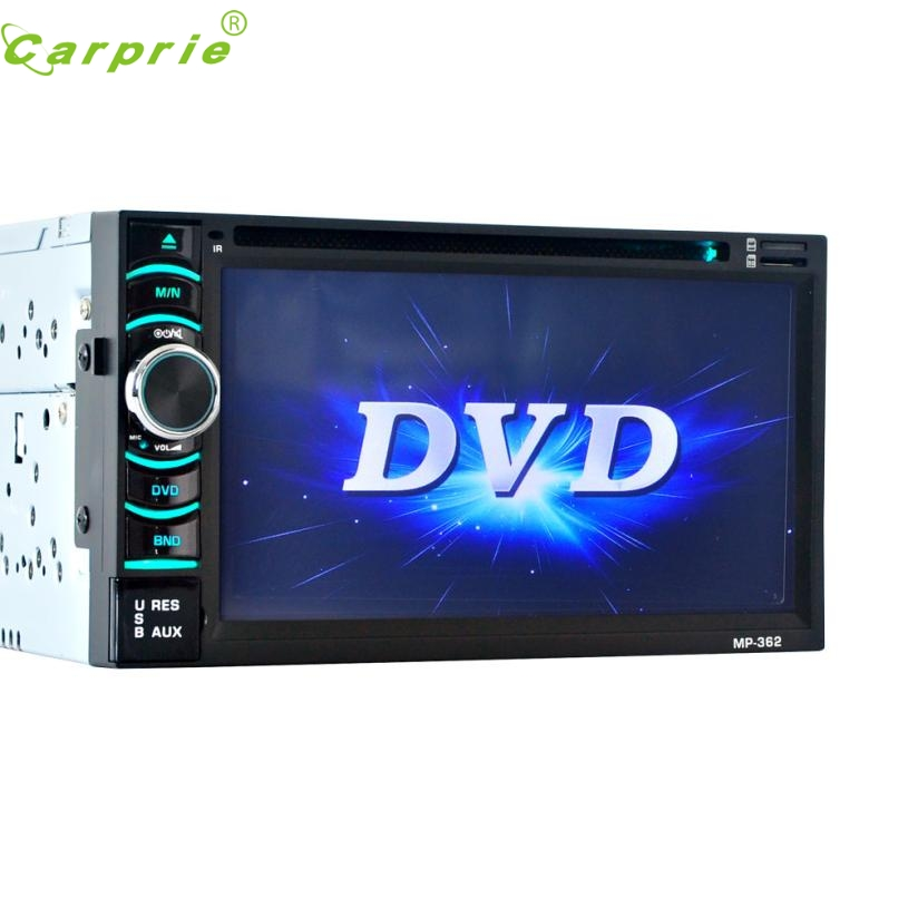 New Arrival 6.5 Double 2DIN Touch Car Stereo CD DVD Player Bluetooth USB SD AM FM TV Radio at4