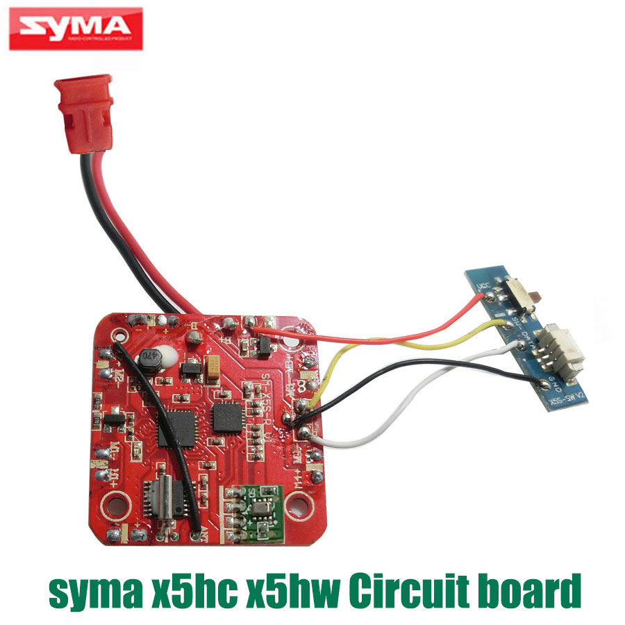 Original SYMA X5HC Receiver Board PCB X5HW Quadcopter Circuit Board RC Drone Spare Parts Accessories new arrival fq777 126c mini rc quadcopter spare parts circuit board for rc camera drone helicopter accessories
