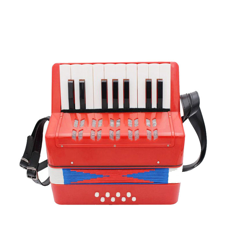 Children's Accordion 17 Keys 8 Bass Custom LOGO Keyboard Instrument