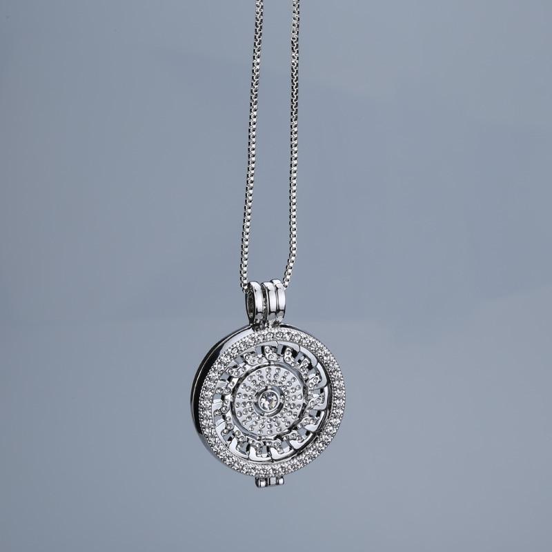 New rose gold antar hangeable kalung 35mm kalung fashion cocok saya - Perhiasan fashion - Foto 3