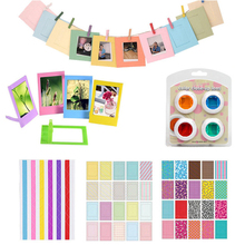 4 Colors Filter + Stickers + Photo Frame For Fujifilm Instax Mini 8, 8+, 7s, 9,
