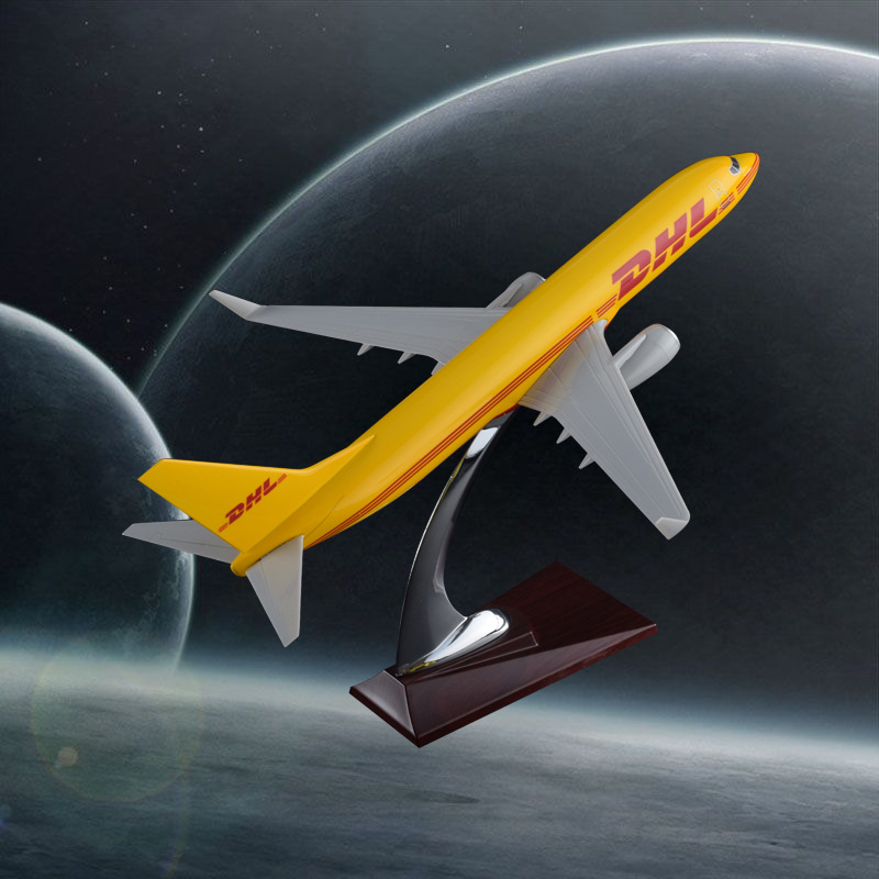 32cm Resin Boeing 737 DHL Aircraft Model OEM Airplane DHL express Airways Model Decoration Gifts bbox200 1 200 american frontier airlines boeing 737 200 aircraft model n1pc alloy collection model
