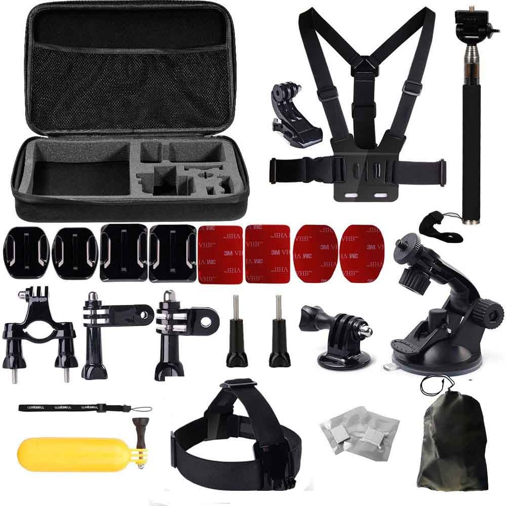 Accessories For GoPro Accessories Kit for Go Pro hero3 Hero 4 session 3+ 2 3 Xiaomi yi SJ4000 SJ5000 Soocoo S60 S70 Sport Camera