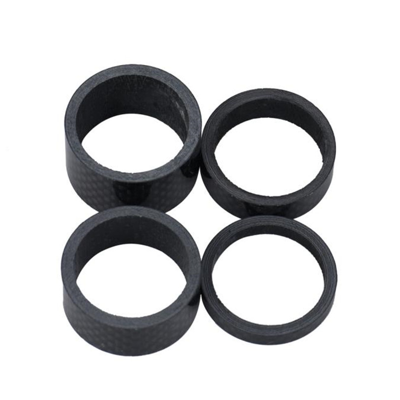 "4* Carbon Fiber Spacer Stem 1-1//8/"" Bike Bicycle Headset Washer Kit 5//10//15//20mm"