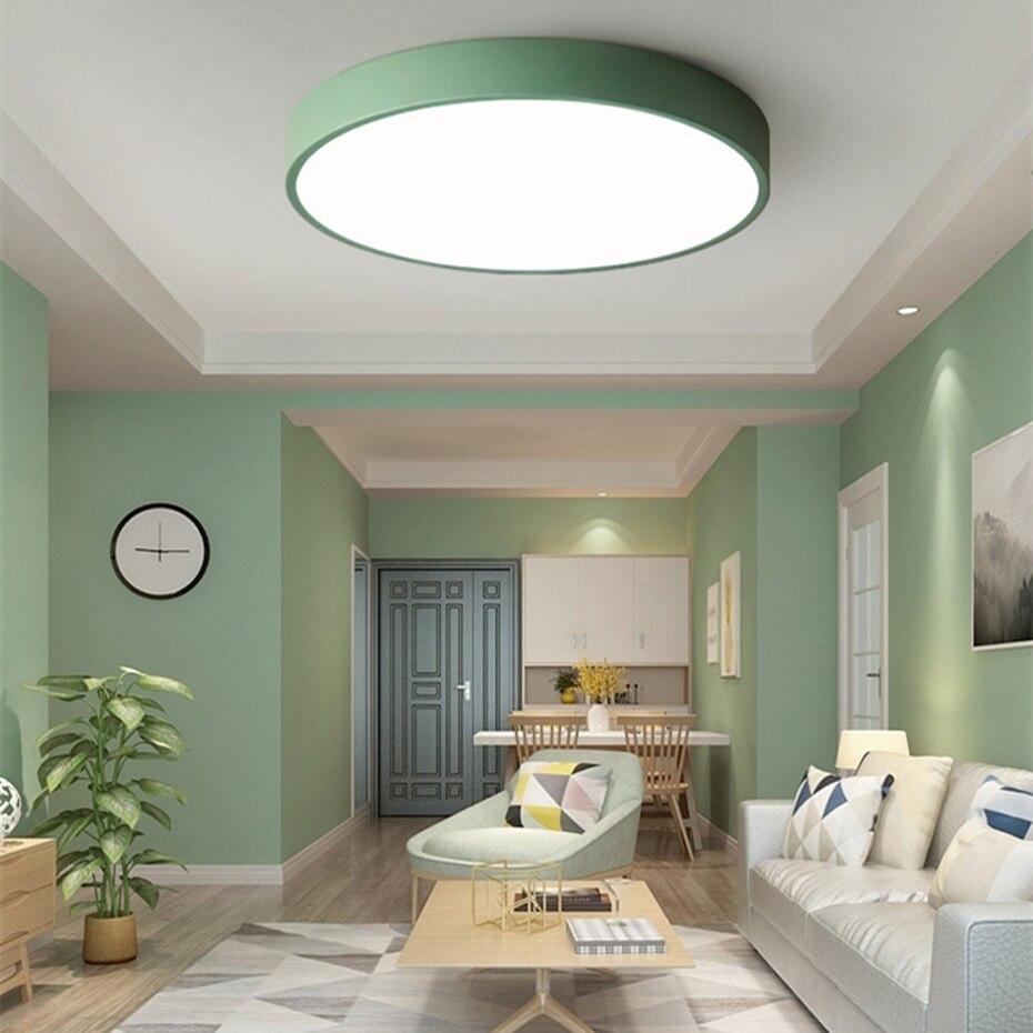 Lámpara de techo LED redonda verde