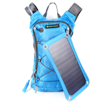 6.5W Outdoor solar charging bag sports backpack ultralight MTB tour solar panel charging