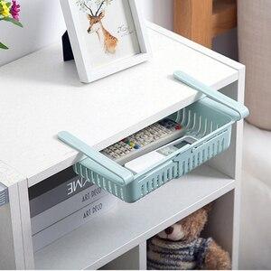 Image 3 - Estante de almacenamiento de cocina organizador de cocina accesorios de cocina organizador estante de almacenamiento caja de almacenamiento de nevera