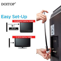 DOITOP wyczyść klucz TV HD cyfrowy telewizor z dostępem do kanałów telewizji satelitarnej antena kryty pilot zdalnego sterowania antena telewizor HD zwiększyć sygnał opakowania detalicznego