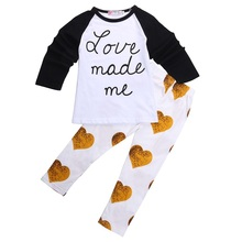 NEW Spring Autumn Baby Girls Cute Clothing 2pc Long Sleeves T-shirt Top + Pant Clothes Set Baby Toddler Boy Outfit Suit