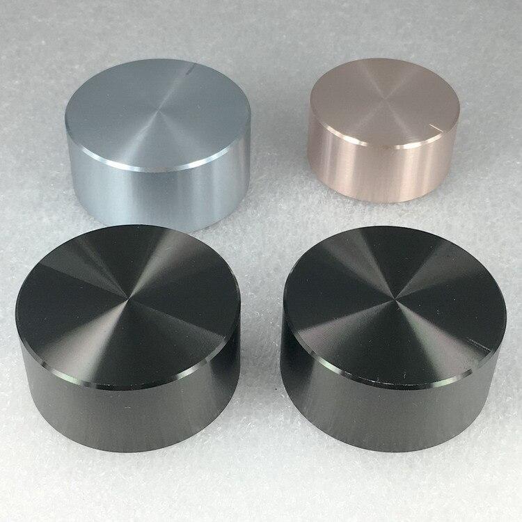 2pcs Aluminum Plastic Knob Potentiometer Knob 48*22*6mm Chassis Volume Knob Switch Cap Plum Handle Knob For HI-FI Amplifier
