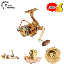 Ultra Light Mini Small Fishing reel12+1BB 5.5:1 Bait Casting Fishing Reel carretilha pesca Metal fly fishing wheel spinning reel