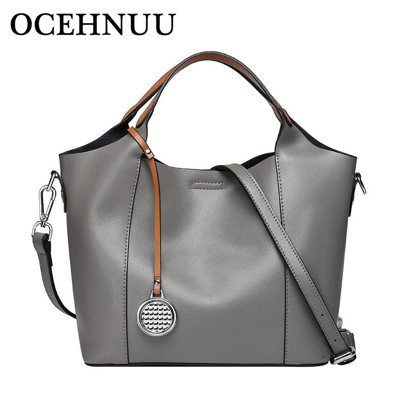OCEHNUU luxe femmes sacs à main en cuir Set Designer véritable sacs à bandoulière en cuir de vache pour femmes sacs à bandoulière femme 2018 marques