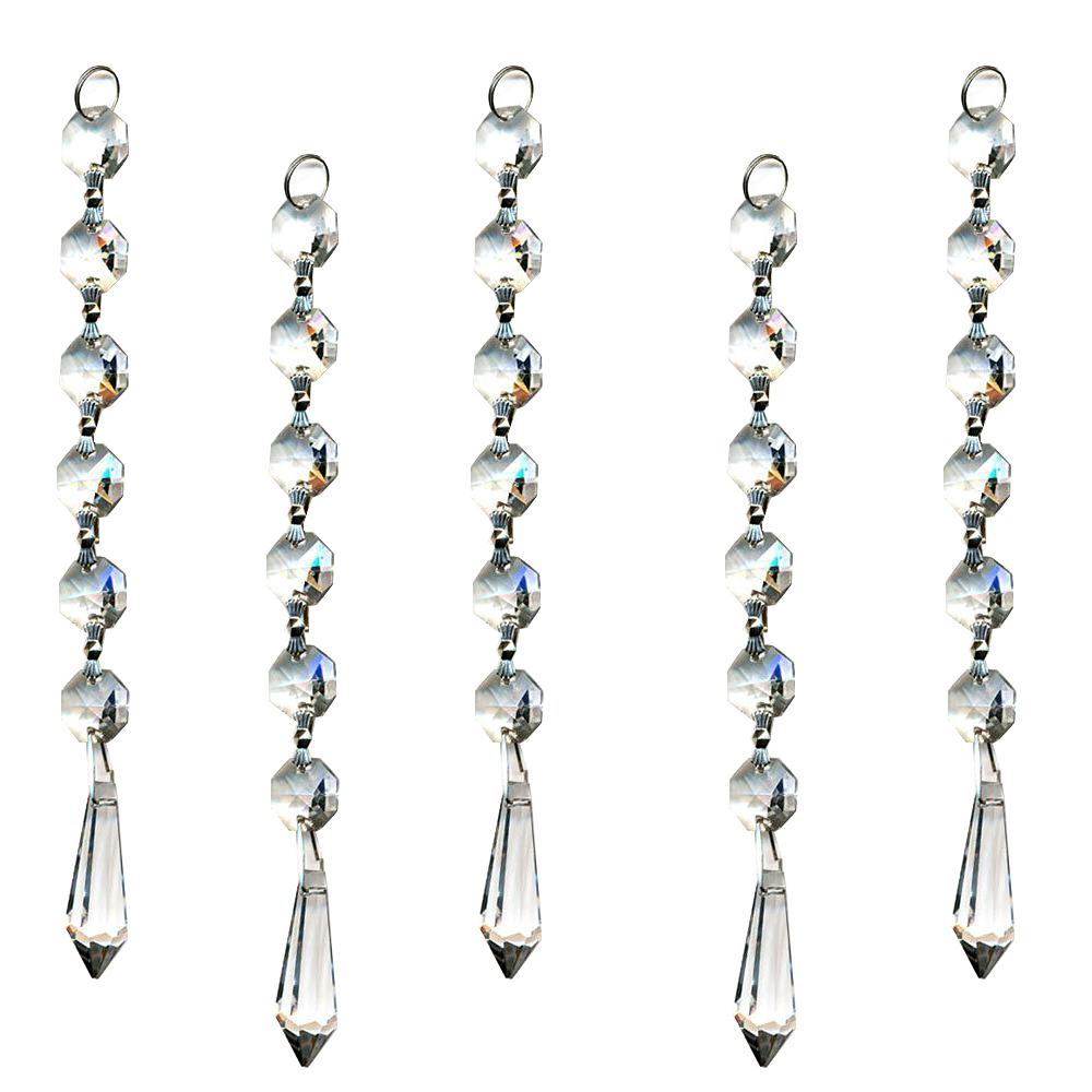 Crystal Chandelier Pendants Parts: 10 Clear Window Suncatcher Hanging Crystal Rainbow Prism