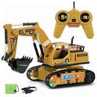 4Ch Моделирование Rc экскаватор музыкальные игрушки и свет детские мальчики игрушки для грузовых автомобилей Rc подарки Rc инженерный автомоби...