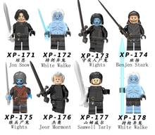 8pcs/lot Movie Game of Thrones Characters Jon Snow Models & Building Blocks Set Toys(China)