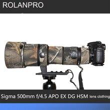 ROLANPRO Lens Kamuflaj Ceket yağmur kılıfı için Sigma APO 500mm f/4.5 EX DG HSM Lens Koruyucu Kılıf Lens koruma kollu DSLR