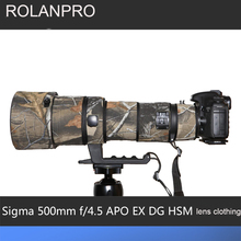 ROLANPRO Objektiv Camouflage Mantel Regen Abdeckung für Sigma APO 500mm f/4,5 EX DG HSM Objektiv Schutzhülle objektiv Schutz Hülse DSLR