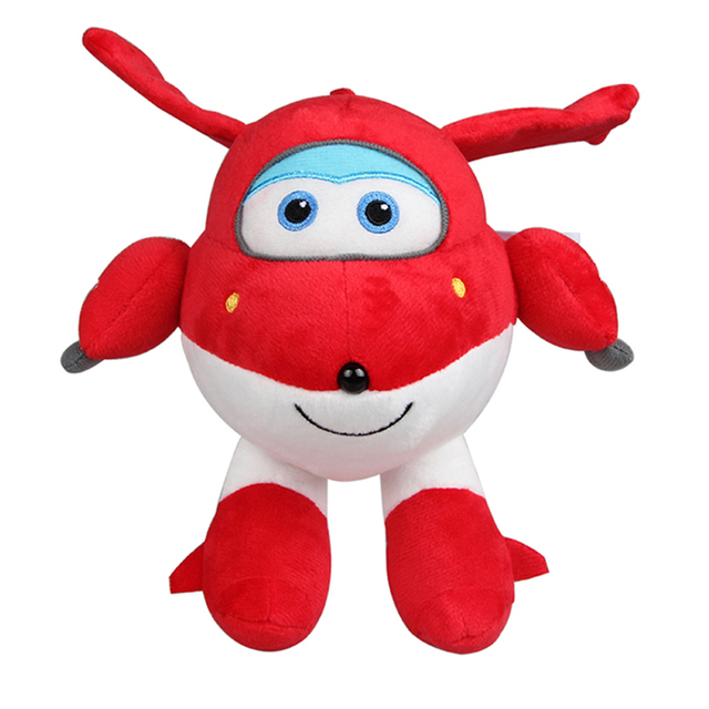 New Arrival - Super Wings Jett Plush Toys Airplane Jet 20/35/48cm 3 Sizes - Cute Toys for kids - Super Wing Toys