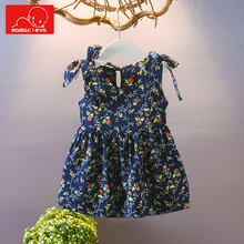 MAMACLEVA Cute Girl Dress Princess Sleeveless Clothes  Summer Childrens Beach Casual Wear Clothing for 2 years old