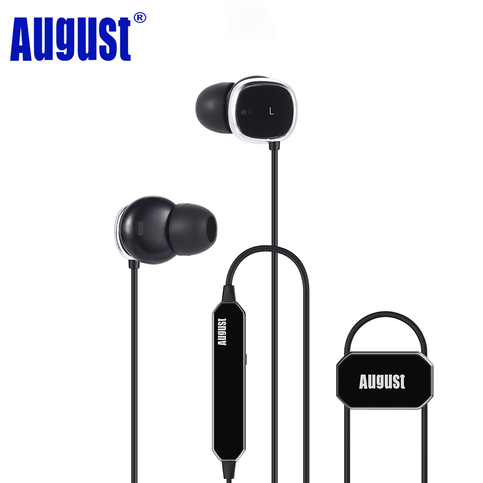 August EP725 Wireless Sweatproof Sports Earphones for Gym Running Active Noise Cancelling Bluetooth Headphones Headsets with Mic