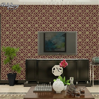 Chinese Retro 3D Stereo Window Grid Wallpaper Hotel Restaurant Hotel Background Classical Lattice PVC Waterproof Wallpaper