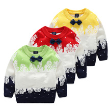 Фотография Kids Boys children gentleman tie pullovers cotton sweater