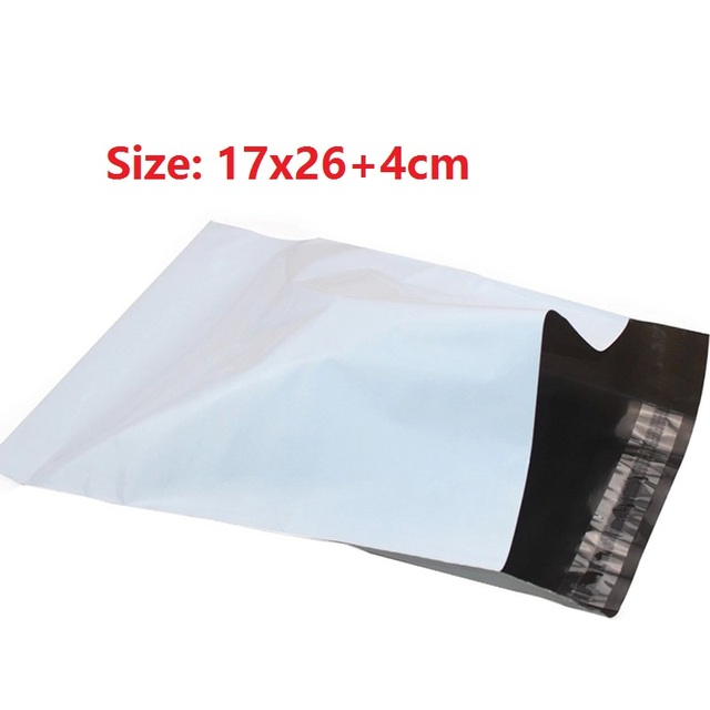 32pcs White Poly Mailer Plastic Mailing Bag Small Envelope Packaging Shipping Bags 17x26cm Envelopes Polybag Mailbag