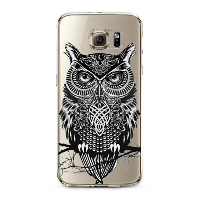 Cute Cat Owl Phone Case For Samsung S4 S5 S6 S6edge S6edge+ S7 S7edge N4 N5
