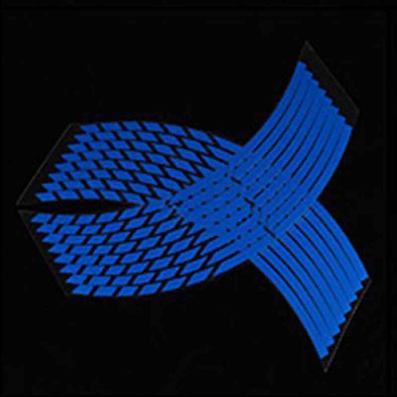 16 Strips Reflective Motorcycle Car Rim Stripe Wheel Decal Wheel Tape Sticker Blue Bike Motorcycle Stickers Car Styling
