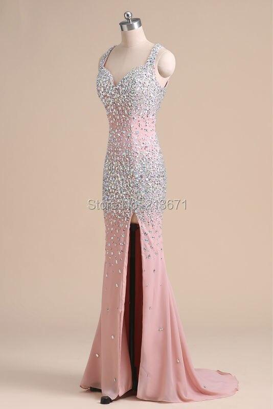 Baijinbai Luxe Nouvelle Mode Rose Élégant Robes De Soirée 2019 - Habillez-vous pour des occasions spéciales - Photo 3