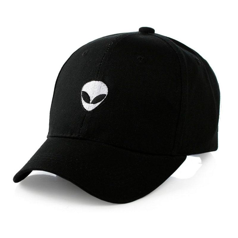 2018 Baseball Cap Black Embroidered Alien Pattern Cap Fashion Cool Adjustable Hip Hop Snapback Caps Hat Unisex