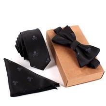 2016 Brand Wedding Necktie & Pocket Square Towel & Bow Tie Print Set Mens Suit Papillon Corbatas Handkerchief Skinny Tie gravata