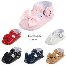 Baby Prewalker Shoes PU Newborn Fashion Autumn Girl Flowers First Walker