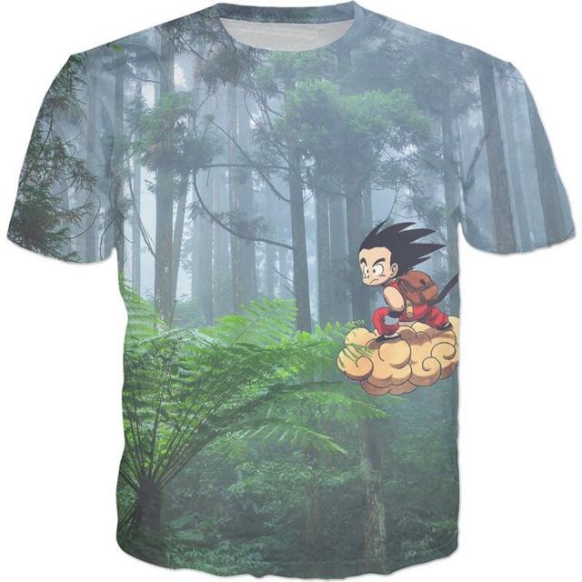 2017 (6 Styles) Dragon Ball Z Graphic T-Shirts Fashion Short Sleeve Tee Goku Vegito