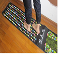 Hot Sale 175*35Cm Yoga Medialbranch Colorful Plastic Acupoint Foot Massage Pad Cobblestone Pain Relief Foot Massager