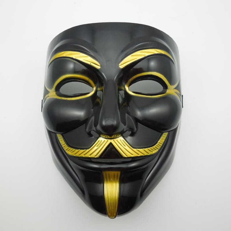 The Black V For Vendetta Party Cosplay Masque Mask Anonymous Guy