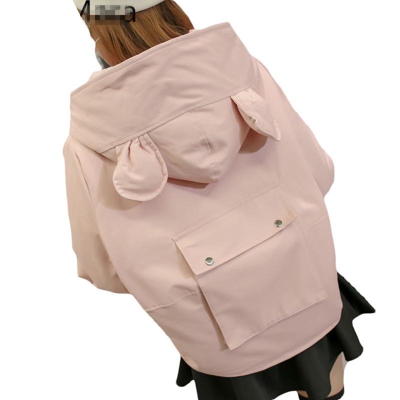 2017 New Winter Women Coat Cotton Padded Jacket Female Lovely Loose Thicken Hooded Parka Girls Autumn Basic Jackets L542 lovely autumn winter lover cotton padded women