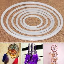 Обруч кольцо «Ловец снов» Большой DIY аксессуары ремесла круглый пластик белый прочный