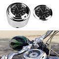 "NEW Waterproof 7/8"" or 1"" Chrome Motorcycle Handlebar Mount Quartz Clock Watch for Harley Davidson Honda Yamaha Suzuki Kawasaki"