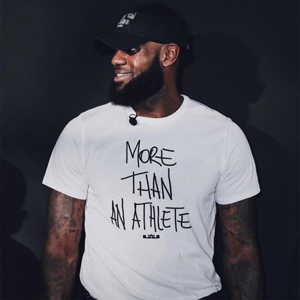 Mais do que um athlet lebron james la carta imprimir camiseta de algodão dos homens t camisa nova camiseta das mulheres unisex moda