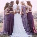 Diy 2017 dress mujeres coloridas de la gasa vestidos de partido largo de la vendimia maxi convertible multi dress ropa mujer